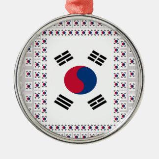 Vintage South Korea Metal Ornament