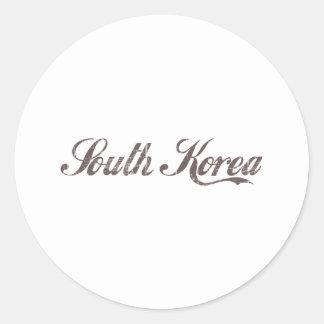 Vintage South Korea Round Sticker