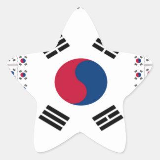 Vintage South Korea Star Sticker