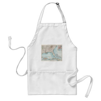 Vintage Southeastern US and Caribbean Map (1900) Adult Apron