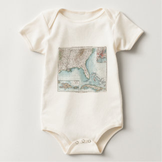 Vintage Southeastern US and Caribbean Map (1900) Baby Bodysuit
