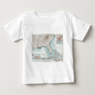 Vintage Southeastern US and Caribbean Map (1900) Baby T-Shirt