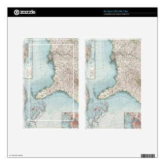 Vintage Southeastern US and Caribbean Map (1900) Decal For Kindle Fire