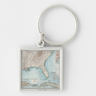 Vintage Southeastern US and Caribbean Map (1900) Keychain