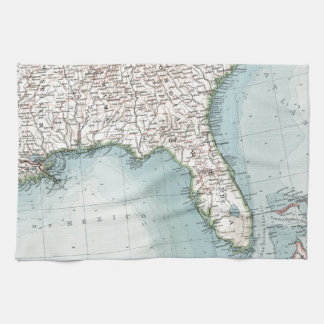 Vintage Southeastern US and Caribbean Map (1900) Kitchen Towel