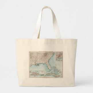 Vintage Southeastern US and Caribbean Map (1900) Large Tote Bag