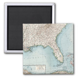 Vintage Southeastern US and Caribbean Map (1900) Magnet