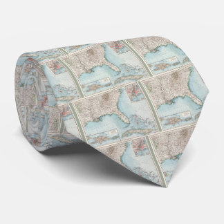 Vintage Southeastern US and Caribbean Map (1900) Neck Tie