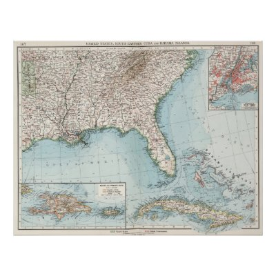 Vintage Map Of The Southeastern US Poster Zazzle - 1806 map of the us
