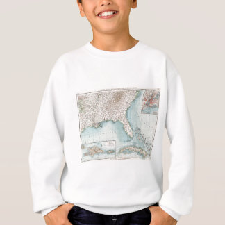 Vintage Southeastern US and Caribbean Map (1900) Sweatshirt