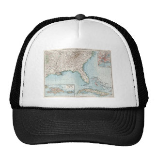 Vintage Southeastern US and Caribbean Map (1900) Trucker Hat