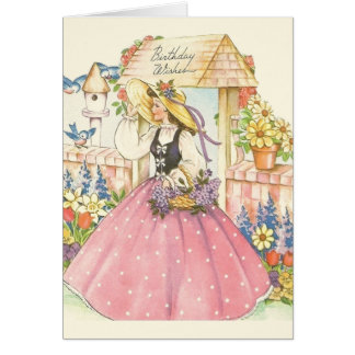 Vintage Southern Belle Birthday Card