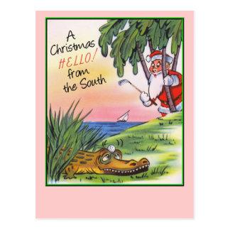 Vintage Southern Christmas Postcard