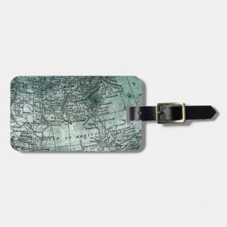 Vintage Southern USA States Gulf Region Map Bag Tag