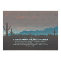 Vintage Southwestern Wedding Invitations Announcement