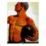 Vintage Soviet Hunk Postcards