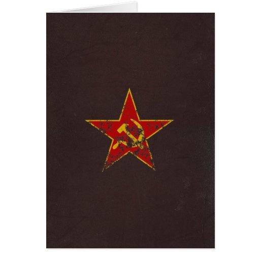 Vintage soviético de la estrella tarjeta de felicitación