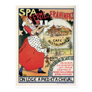 Vintage Spa Belgium Café restaurant ad Post Cards