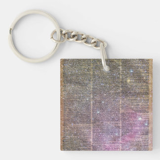 Vintage Space dictionary book Keychain