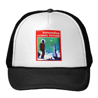 Vintage Space Explorer and Rocket Ship Trucker Hat
