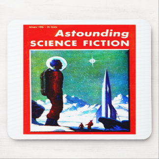Vintage Space Explorer and Rocket Ship Mouse Pads