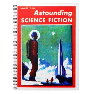 Vintage Space Explorer and Rocket Ship Note Book