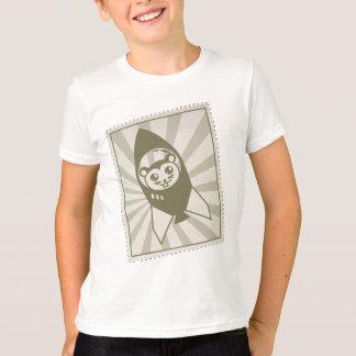 Vintage Space Hamster Stamp T-shirt