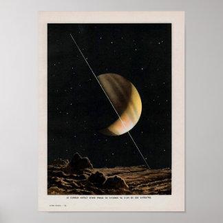 Vintage Space Image Poster