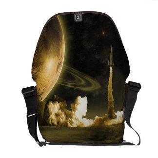 Vintage Space Launch Messenger Bags