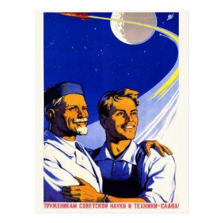 Vintage Space Postcard