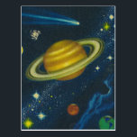 """Vintage Space Postcard<br><div class=""""desc"""">Vintage graphic</div>"""