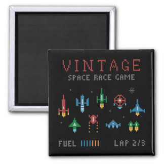 Vintage Space Race Magnet