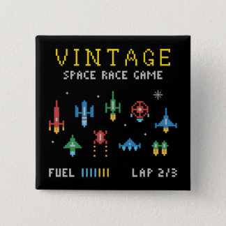 Vintage Space Video Game Pinback Button