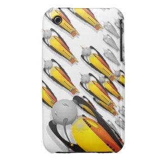 vintage spaceship invasion Case-Mate iPhone 3 cases
