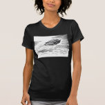 Vintage Spaceship Rocket Flying in the Clouds Shirt