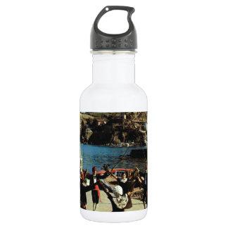 Vintage Spain, Catalan, dance Sardane Water Bottle