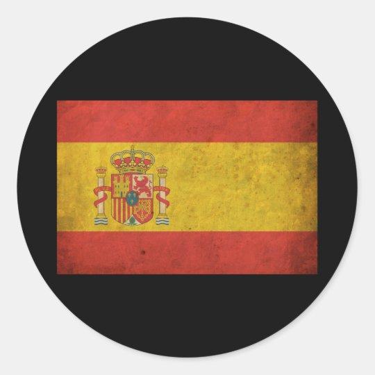 Vintage Spain Flag Classic Round Sticker