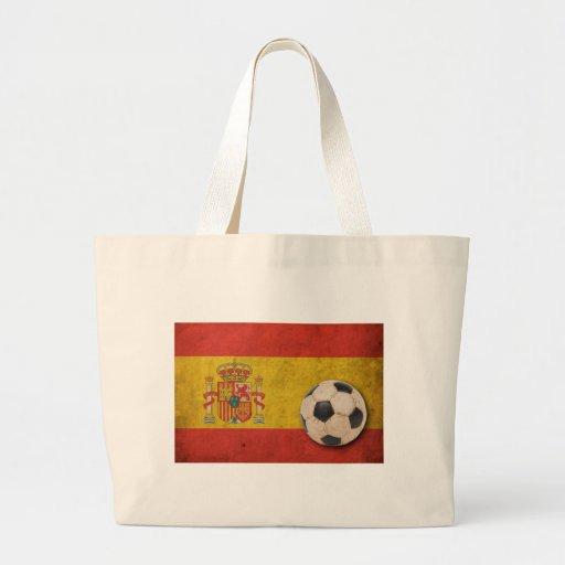 Vintage Spain Flag Jumbo Tote Bag
