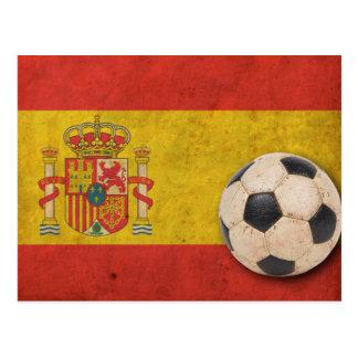 Vintage Spain Flag Postcard