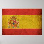Vintage Spain Flag Poster
