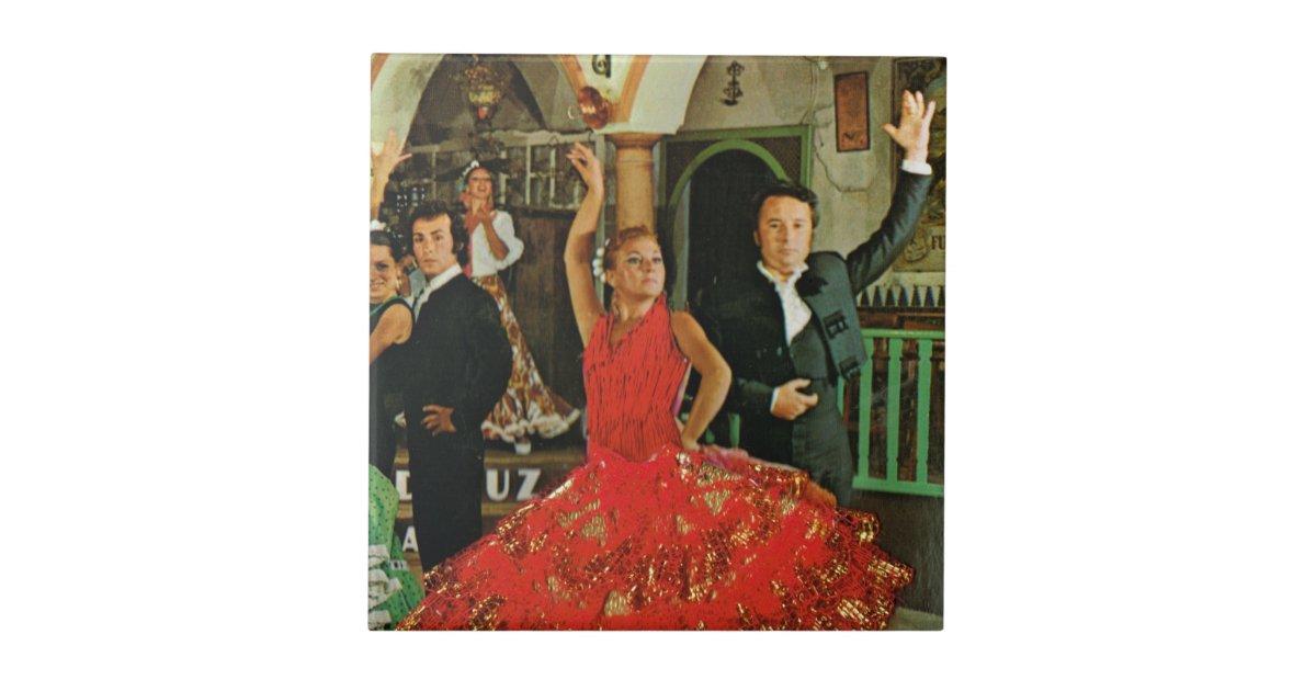 Vintage Spain Flamenco Dancers Ceramic Tile Zazzle Com