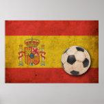 Vintage Spain Football Print