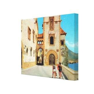 Vintage Spain, Sitges Museum, Upper City Canvas Prints