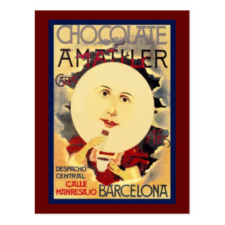 Vintage Spanish Chocolate Ad Postcard