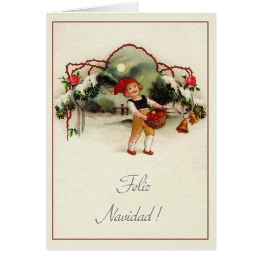 Christmas card greetings spanish all ideas about christmas and vintage spanish hispanic christmas greeting card zazzle m4hsunfo