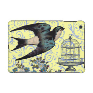 Vintage Sparrow & Cage iPad Mini Case