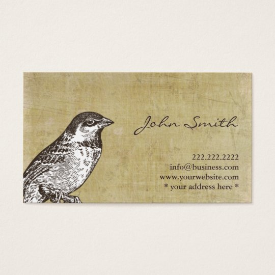 Vintage Sparrow Calling Card Profile Card