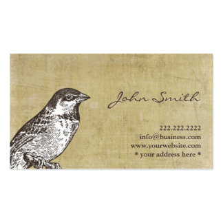 Vintage Sparrow Calling Card Profile Card Double-Sided Standard Business Cards (Pack Of 100)