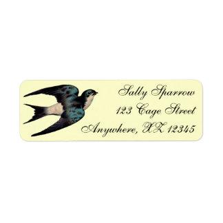 Vintage Sparrow Label