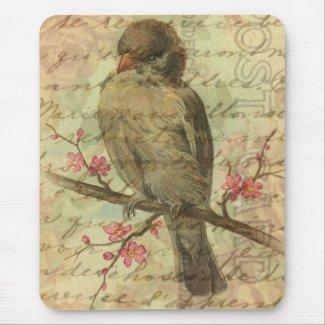 Vintage Sparrow mousepad